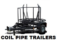 Photo of a self-loading Coil Pipe Trailer