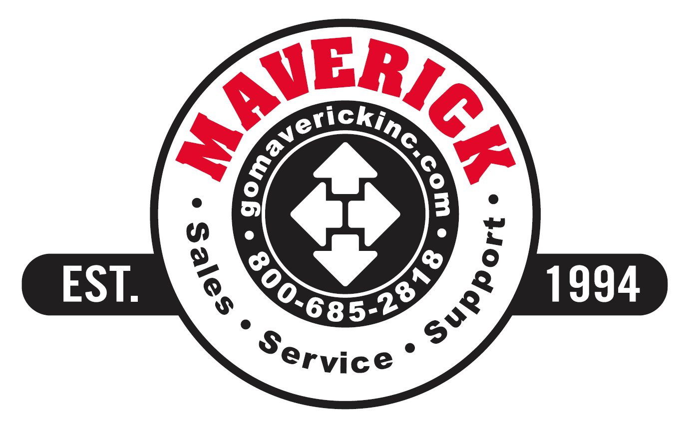Go Maverick Inc. logo. Call 800-685-2818 for sales, service and support.