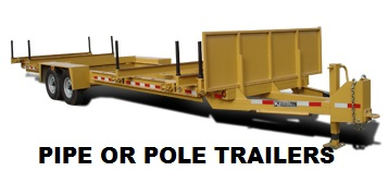 Pipe Pole Material Trailers