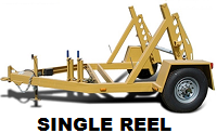 Photo of the very sturdy Single Reel Trailer.